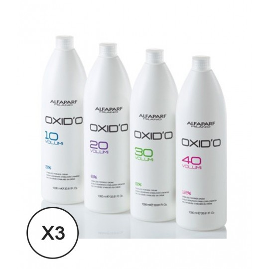 Alfaparf OXID'O Oxydationsmittel 30 Vol 9% 1000 ml x 3