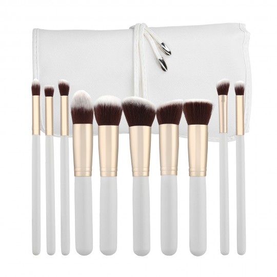 MIMO by Tools For Beauty 10 Teilig Makeup Pinseln Set, Weiß
