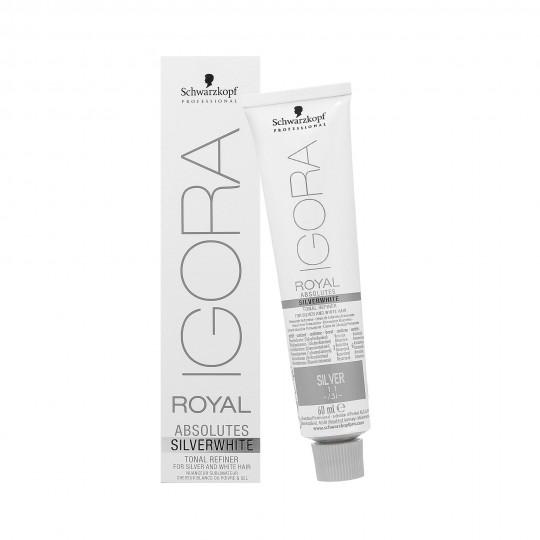 SCHWARZKOPF PROFESSIONAL IGORA ROYAL Absolutes Silver White Haarfärbemittel 60ml