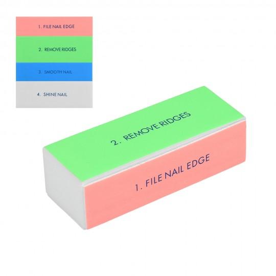 Vierseitiger Polierblock – mehrfarbig
