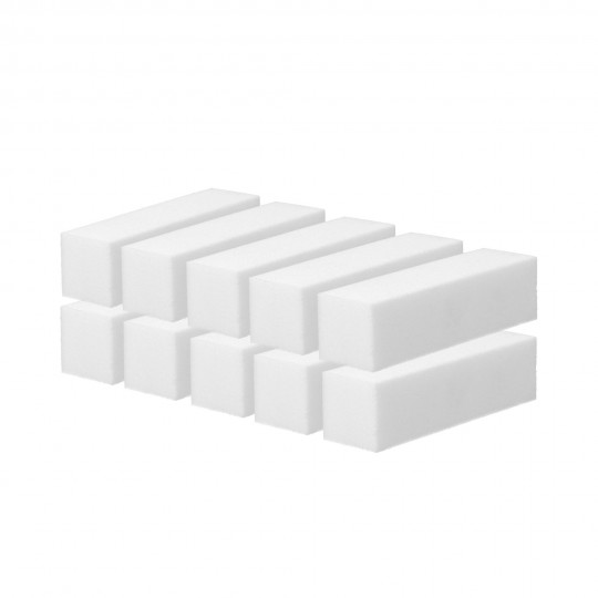 Set von vierseitigen weißen Polierblöcken 10 St.