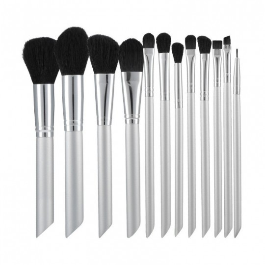 MIMO by Tools For Beauty, Set Mit 12 Make-up-Pinsel, Silber