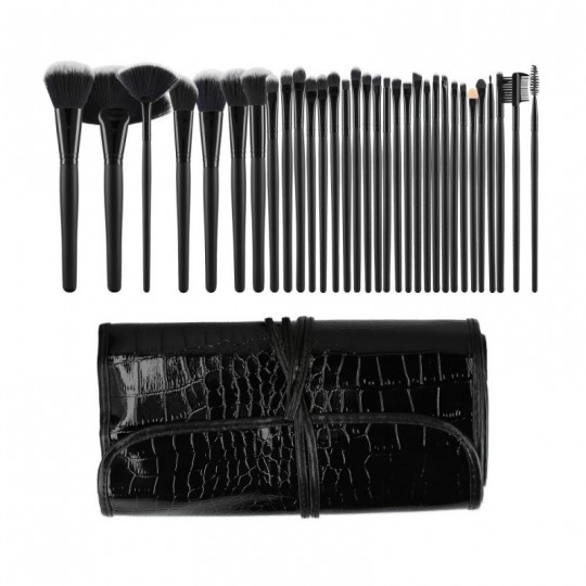 Set mit 32 Make-up Pinsel