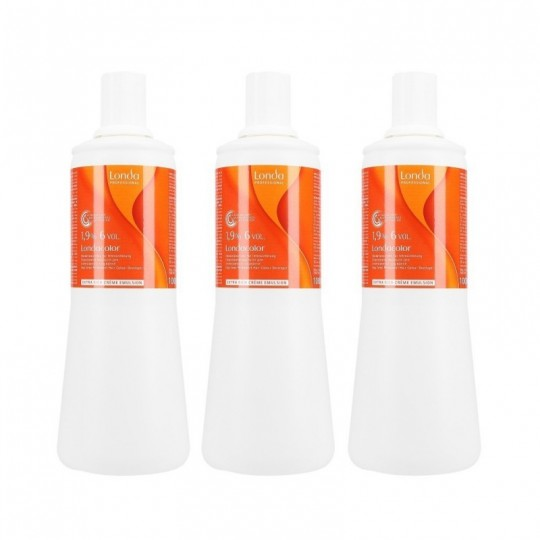 Londa Londacolor Oxidationscreme für Cremehaarfarbe 1,9 % 1000 ml x 3