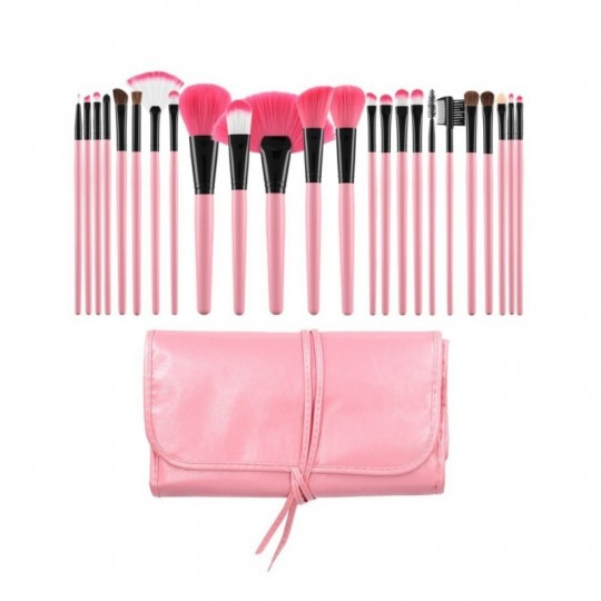 Set mit 24 Make-up Pinsel
