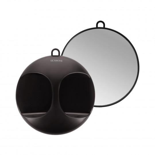 LUSSONI by Tools For Beauty, Schwarz Und Rund Spiegel, Ø 29 cm