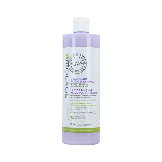 MATRIX BIOLAGE R.A.W COLOR CARE Acidic Milk Milch für gefärbtes Haar 500ml
