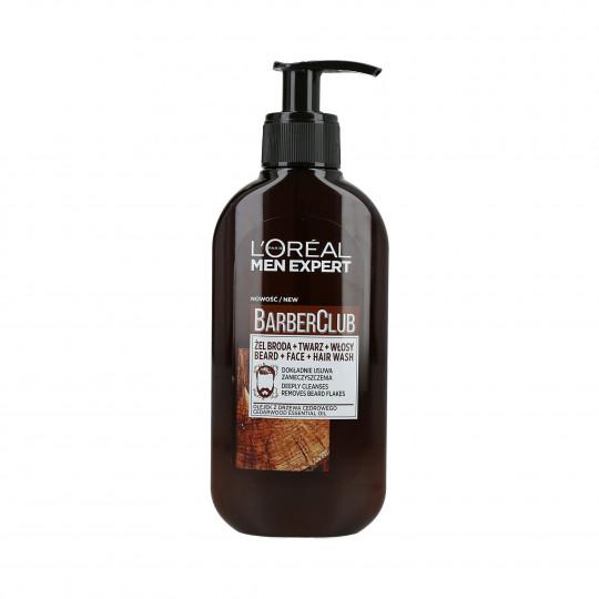 L'OREAL PARIS MEN EXPERT BARBER CLUB Waschgel für Bart, Gesicht und Haare 250ml