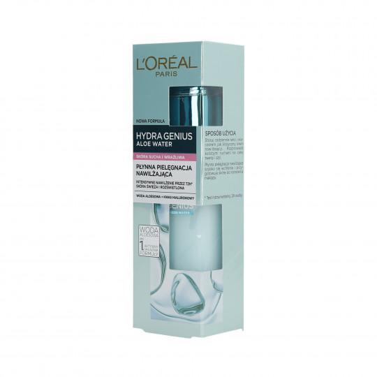 L'OREAL PARIS HYDRA GENIUS Flüssige Feuchtigkeitspflege für trockene und empfindliche Haut 70ml