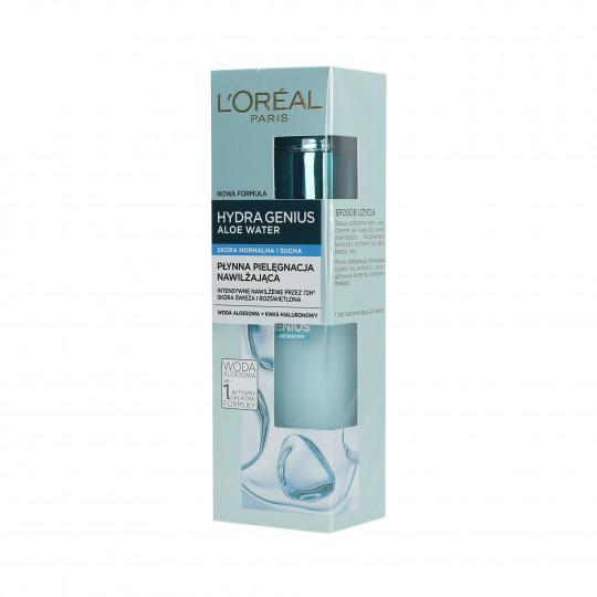 L'OREAL PARIS HYDRA GENIUS Flüssige Feuchtigkeitspflege für normale und trockene Haut 70ml