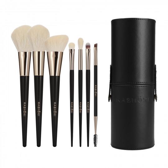 Kashōki Suisen Make-up Pinsel Set mit Pinselrohr 8-tlg