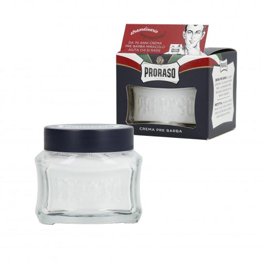PRORASO BLUE Feuchtigkeitsspendende Pre Shave Creme 100ml