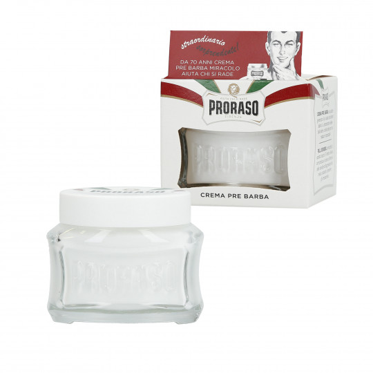 PRORASO WHITE Lindernde Pre Shave Creme 100ml