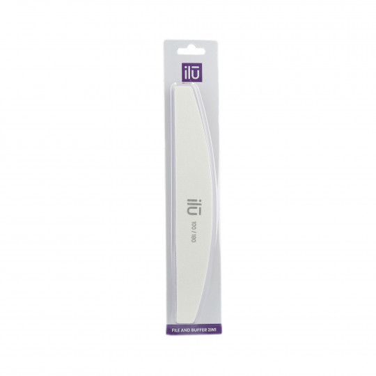 ilū by Tools For Beauty, 2in1 Halbform Nagelfeile Und Polierfeile, Körnung 180/100