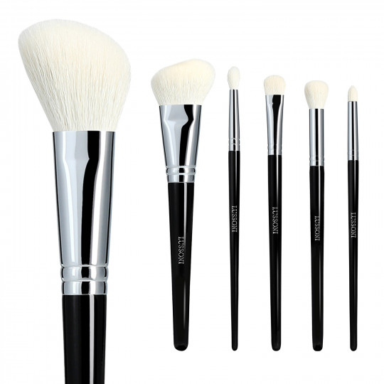 LUSSONI Natural Charm 6 Pcs Professional Makeup Brush Set