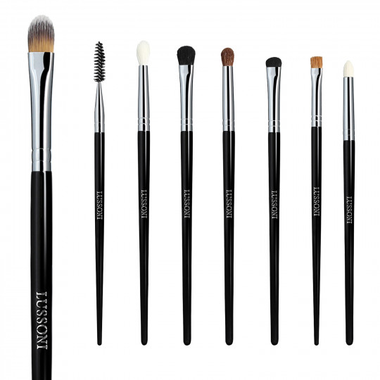 LUSSONI by Tools For Beauty, Smokey Eye - 8 Teilig Professionelles Makeup Pinsel Set