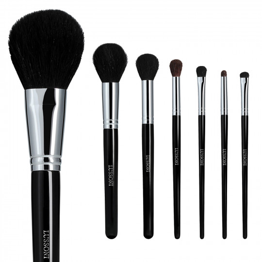 LUSSONI by Tools For Beauty, Natural Smoothness - 7 Teilig Professionelles Makeup Pinsel Set