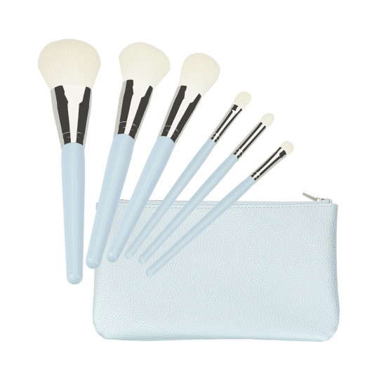 MIMO by Tools For Beauty, 6 Stück Make-up Pinsel Set, blau